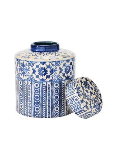 Warm Design Çini Desenli Porselen Vazo Renkli